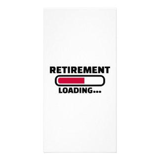De lading van de pensionering fotokaart