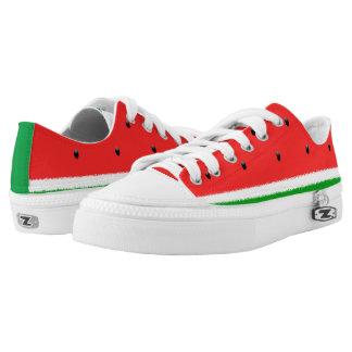 De lage hoogste schoenen van de watermeloen