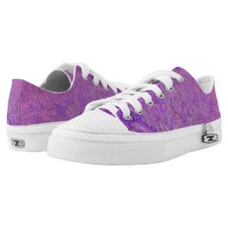 De Lage Hoogste Schoenen van paarse Zipz van de