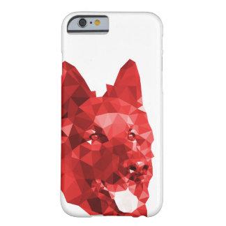De Lage PolyKunst van de Duitse herder in Rood Barely There iPhone 6 Hoesje