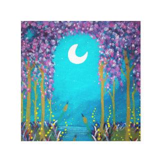 De Lagune van de maan Canvas Afdruk