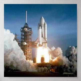 De Lancering van de raket Poster