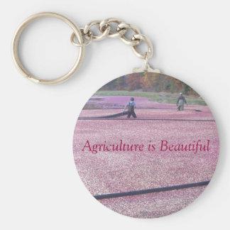 De landbouw is Mooi - de Stijl van de Amerikaanse  Basic Ronde Button Sleutelhanger