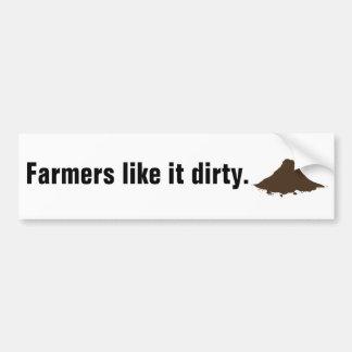 De landbouwers houden van het Vuil Bumpersticker
