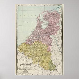 De Landen van Benelux Poster