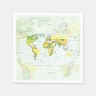De Landen van de Atlas van het Wereldbol van de Wegwerp Servet