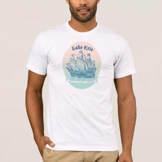 De Lange Schepen van Erie van het meer voor de T Shirt