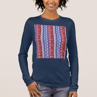 De lange sleeved bovenkant van vrouwen met t shirts