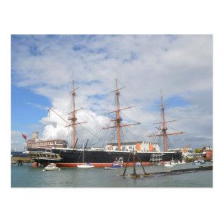 De lange Strijder van het Schip HMS Briefkaart