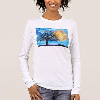 De lange T-shirt van de Boom van de Volle maan van