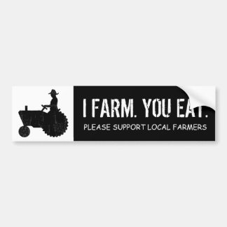 De langzame Grappige Landbouwer Chugga Luggin van  Bumpersticker
