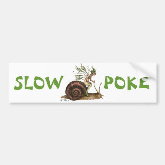 De langzame Sticker van de Bumper van de Por