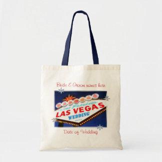 De Las Vegas Gepersonaliseerde Zak van het Huwelij Draagtas