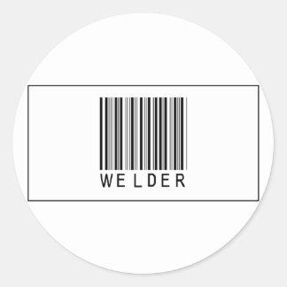 De Lasser van de streepjescode Ronde Sticker
