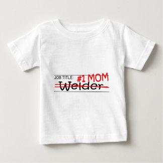 De Lasser van het Mamma van de baan Baby T Shirts
