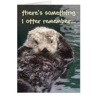 De late Otter van de Verjaardag Wenskaart