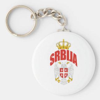 De Latijn van Servië Basic Ronde Button Sleutelhanger