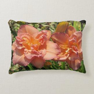 De lavendel Roze Dubbele Daylilies h-werpt Decoratief Kussen