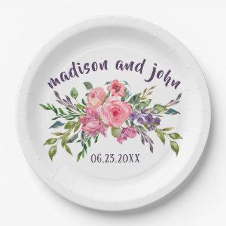 De Lavendel van de bruid & van de Bruidegom en Papieren Bordje