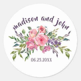 De Lavendel van de bruid & van de Bruidegom en Ronde Sticker