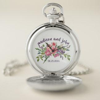 De Lavendel van de Datum van het huwelijk en Roze Zakhorloge