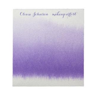 De Lavendel van de Waterverf van de Kunstenaar van Notitieblok