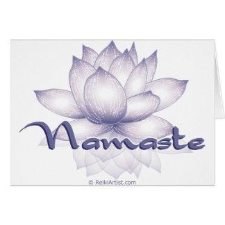 De Lavendel van Lotus van Namaste Briefkaarten 0