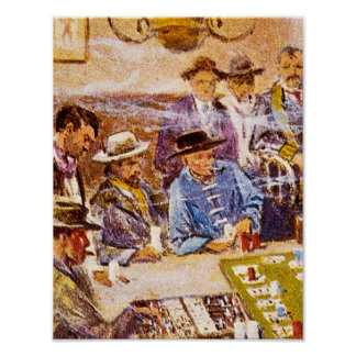 De Lay-out van Faro in het Kunstwerk van Poster