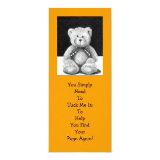 De LEESWIJZER van de teddybeer: Het Kunstwerk van 10,2x23,5 Uitnodiging Kaart