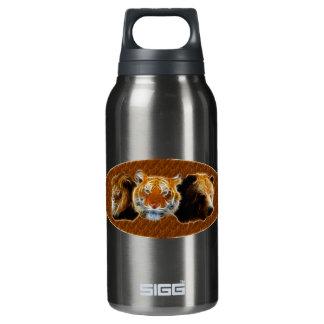 De leeuw en de Tijger en dragen Flessen