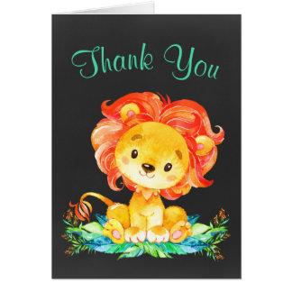 De Leeuw van de Waterverf van het bord dankt u Kaart
