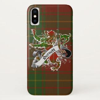 De Leeuw van het Geruite Schotse wollen stof van iPhone X Hoesje