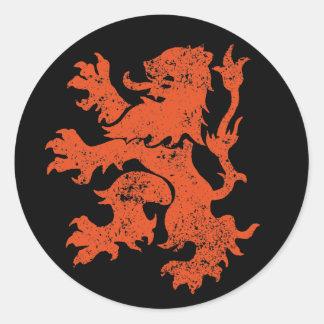 De Leeuw van Nederland Ronde Sticker