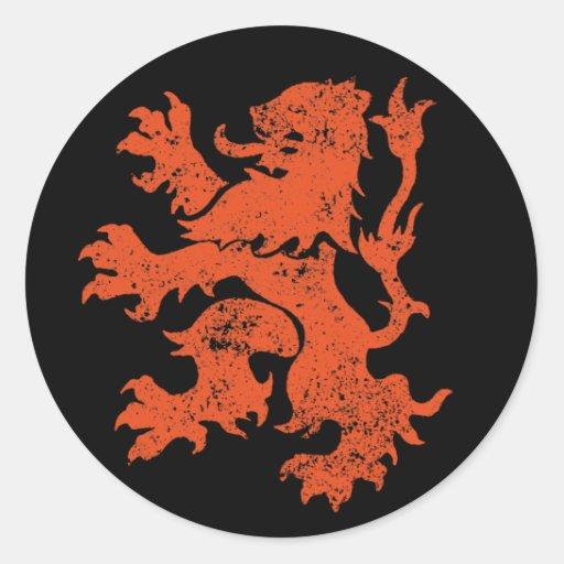 De Leeuw van Nederland Ronde Stickers
