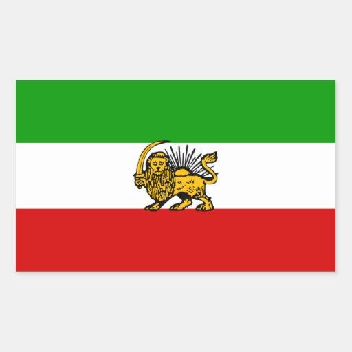 de leeuw vier iran de vlag de zon rechthoek