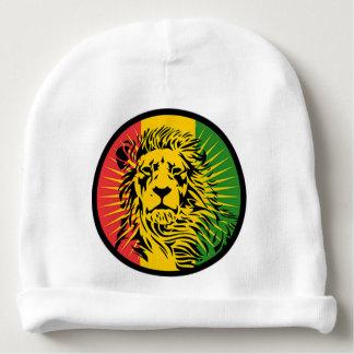 de leeuwvlag van rastareggae baby mutsje