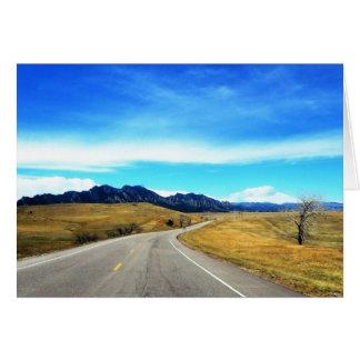 De lege Bergen Colorado van de Fotografie van de Briefkaarten 0