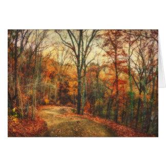 De Lege Kaart van de Gloed van de herfst