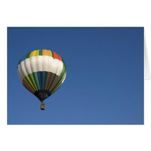 De lege kaart van de hete luchtballon