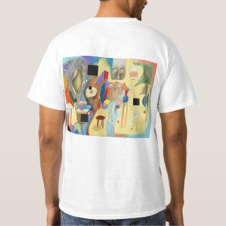 De lege T-shirt van Ruimten (die op rug wordt