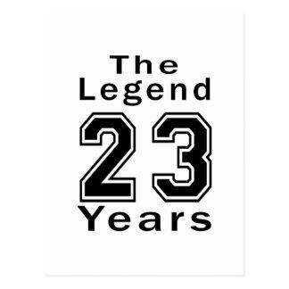 De legende de Giften van de Verjaardag van 23 Jaar Briefkaart