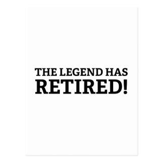 De legende heeft zich teruggetrokken briefkaart