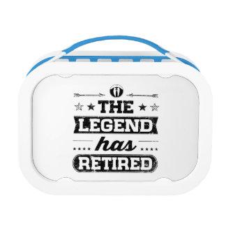 De legende heeft zich teruggetrokken lunchbox