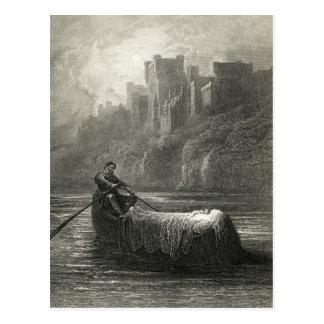 De legende van Arthurian: Het lichaam van Elaine Briefkaart