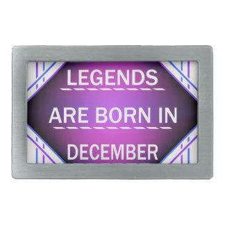 De legenden zijn geboren in December Gespen