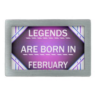 De legenden zijn geboren in Februari Gesp