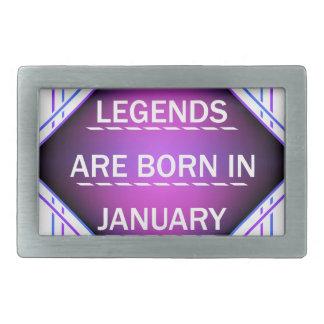 De legenden zijn geboren in januari gesp