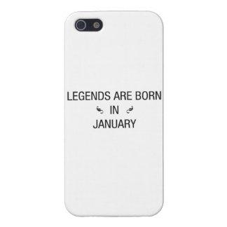 DE LEGENDEN ZIJN GEBOREN IN JANUARI - iPhoneHOESJE iPhone 5 Cases