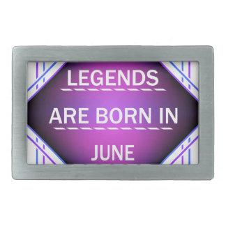 De legenden zijn geboren in Juni Gespen