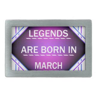 De legenden zijn geboren in Maart Gesp